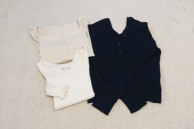 洋服の素材や着まわしやすいアイテム選び